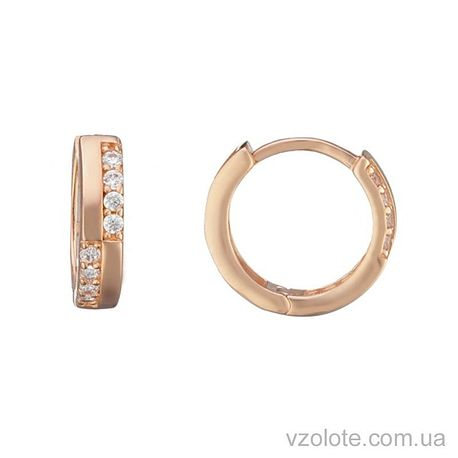 Золотые серьги с фианитами Аида (арт. 2105357101)