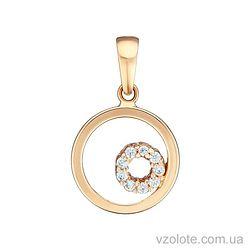 Золотой подвес с фианитами (арт. 3104650101)