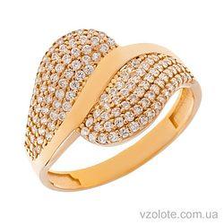 Золотое кольцо с фианитами Рафи (арт. 1105371101)