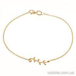 Золотой браслет Веточка (арт. 4072836101)