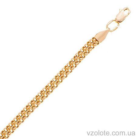 Золотой браслет Двойной якорь (арт. 4284763101)