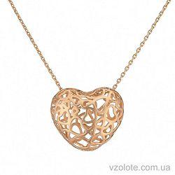 Золотое колье Сердце (арт. 7005009101)