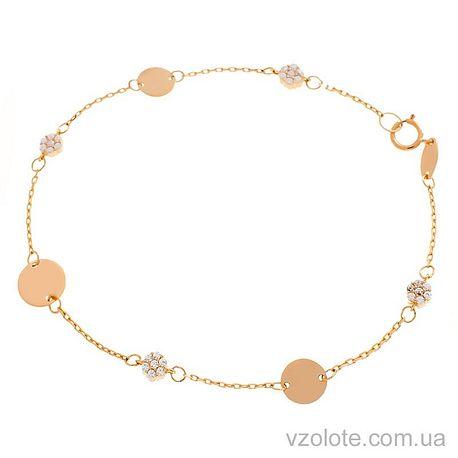 Золотой браслет с фианитами (арт. 4215695101)