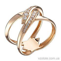 Золотое кольцо с фианитами Тина (арт. 1104635101)