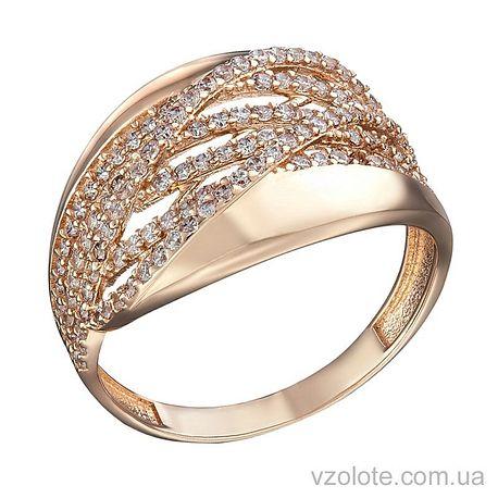 Золотое кольцо с фианитами Рика (арт. 1104850101)