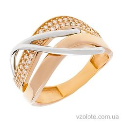 Золотое кольцо с фианитами Касия (арт. 1191425112)