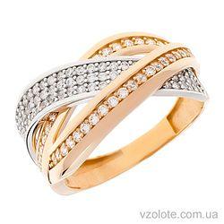 Золотое кольцо с фианитами Наир (арт. 1191420112)
