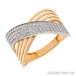 Золотое кольцо с фианитами Агнет (арт. 1191419112)