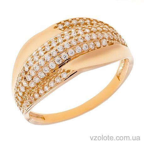 Золотое кольцо с фианитами Монро (арт. 1105378101)
