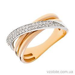 Золотое кольцо с фианитами Виолет (арт. 1191423112)