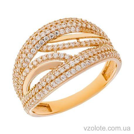 Золотое кольцо с фианитами Танго (арт. 1105372101)