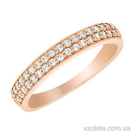 Золотое кольцо с фианитами (арт. 1190819101)