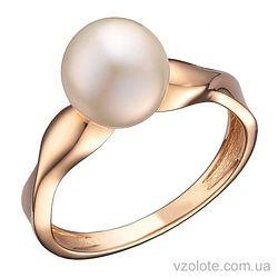 Золотое кольцо с белым жемчугом (арт. 1191340101)