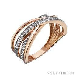 Золотое кольцо с фианитами Анна (арт. 1191421112)