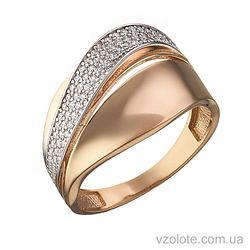 Золотое кольцо с фианитами Зара (арт. 1191422112)