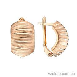 Золотые серьги с алмазной гранью (арт. 2003251101)