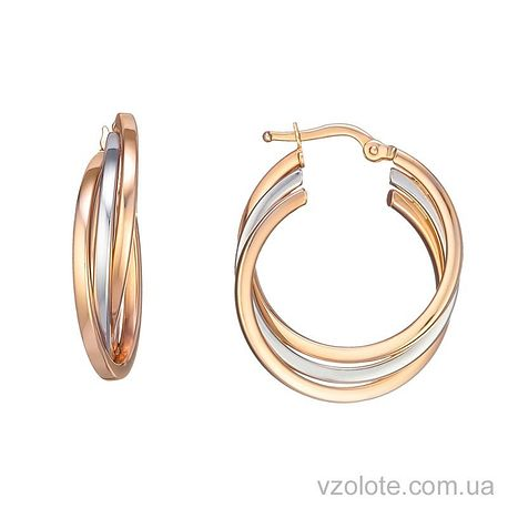Золотые серьги тринити (арт. 2004902112)