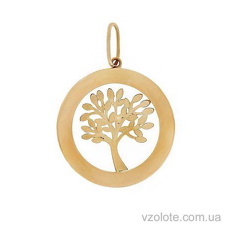 Золотой кулон Дерево жизни (арт. 3002534101)