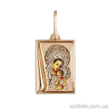 Золотая ладанка Божья Матерь с эмалью (арт. 3101766101)