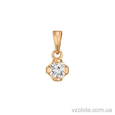 Золотой подвес Камушек (арт. 3102568101)