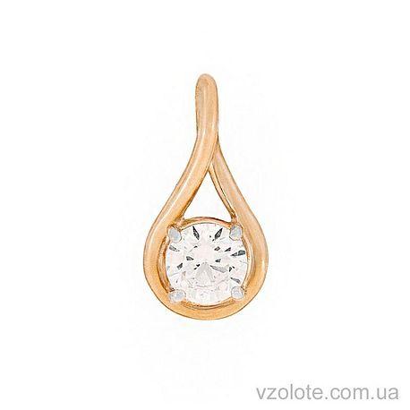 Золотой подвес Капля с фианитом (арт. 3102575101)