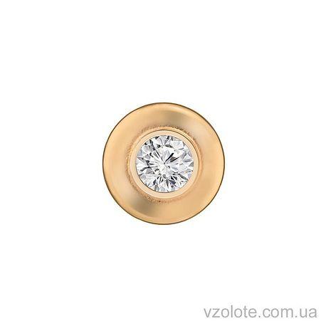 Золотой подвес с фианитом (арт. 3103541101)