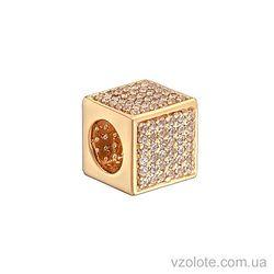 Золотой подвес Кубик с фианитами (арт. 3104110101)