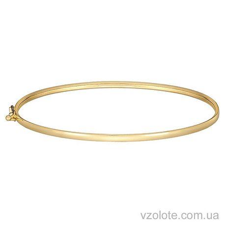 Жесткий браслет из лимонного золота (арт. 4203941103)