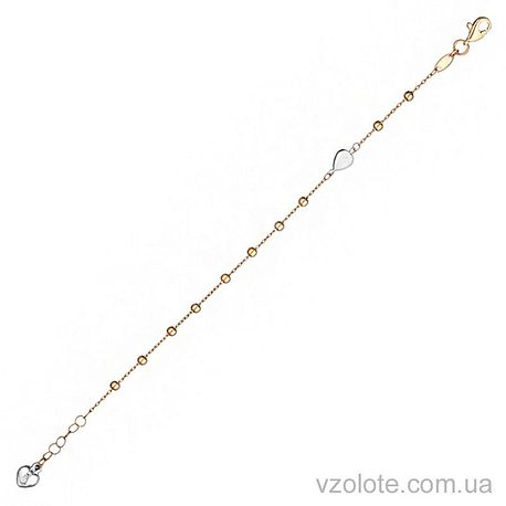 Золотой браслет с бусинами (арт. 4204332112)