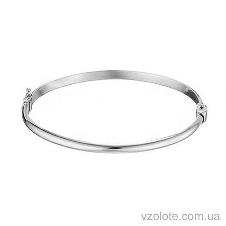 Жесткий браслет из белого золота (арт. 4205433102)