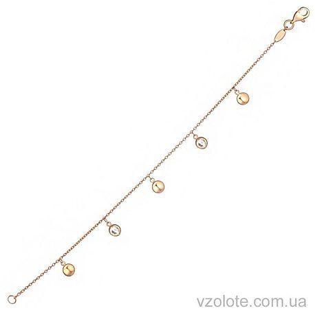Золотой браслет с подвесками бусинами (арт. 4214288101)