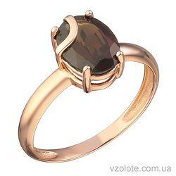 Золотое кольцо с раухтопазом (арт. 1191411101рт)