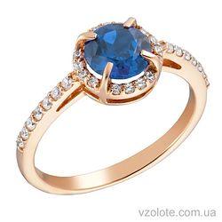 Золотое кольцо с топазом (арт. 1191059101т)