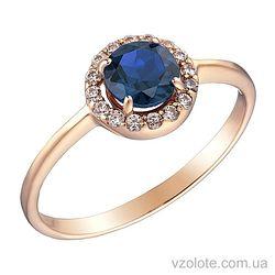 Золотое кольцо с топазом (арт. 1190832101тг)