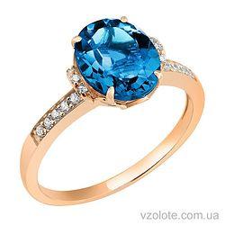 Золотое кольцо с топазом (арт. 1190602101т)