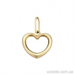 Золотой подвес из лимонного золота Сердечко (арт. 3004426103)