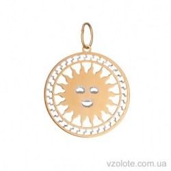 Золотой кулон Солнце (арт. 3005206101)