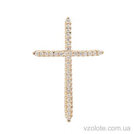 Золотой крест с россыпью фианитов (арт. 3100297101)