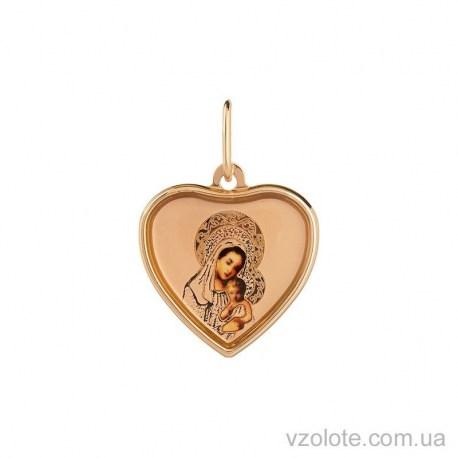 Золотая ладанка с эмалью Божья Матерь (арт. 3101772101)