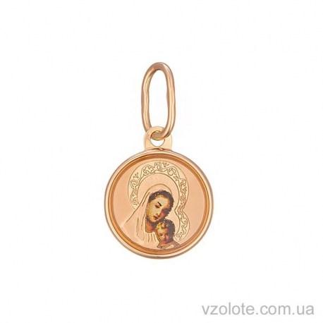 Золотая ладанка с эмалью Божья Матерь (арт. 3102396101)