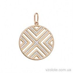 Золотой подвес Геометрия с фианитами (арт. 3105590101)