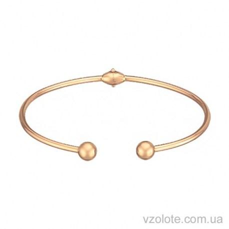Золотой жесткий браслет без камней (арт. 4205435101)
