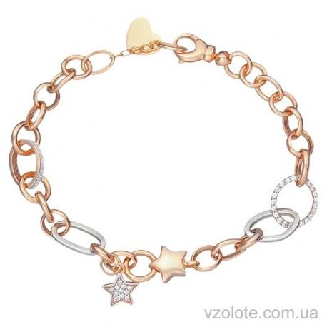 Золотой браслет с подвесками Звездочки (арт. 4213216112)