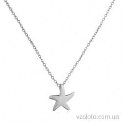 Колье из белого золота с подвеской Морская звезда (арт. 7002551102)