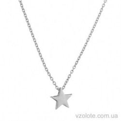Колье из белого золота с подвеской Звезда (арт. 7002556102)
