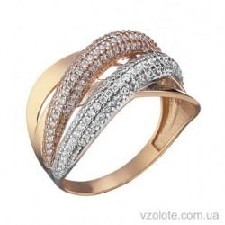 Золотое кольцо с фианитами Лика (арт. 1105376112)