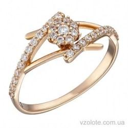 Золотое кольцо с фианитами Искра (арт. 1191304101)