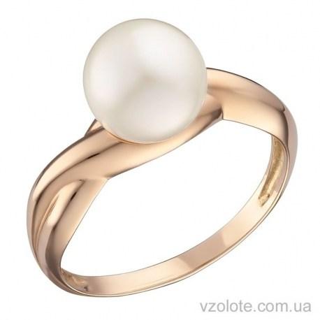 Золотое кольцо с жемчугом Жасмин (арт. 1191342101)