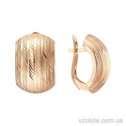 Золотые серьги с алмазной гранью Ролина (арт. 2001711101)