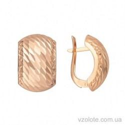 Золотые серьги с алмазной гранью Регина (арт. 2003022101)
